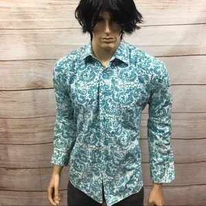🤴🏻Men's Alan Flusser Paisley Button Shirt Sz L